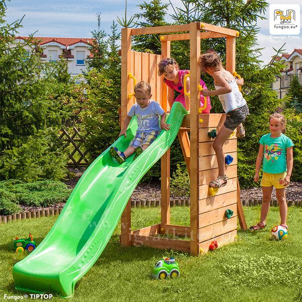 Fungoo - Детска площадка с пързалка и стена за катерене Tip Top 03305