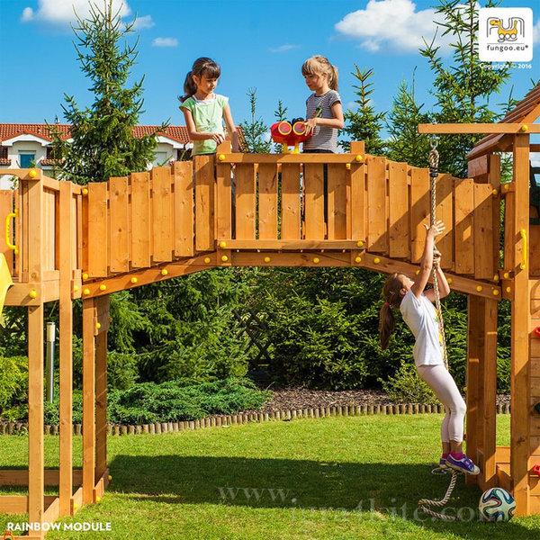 Fungoo - Модул Мост за свързване на две детски площадки Rainbow 03315