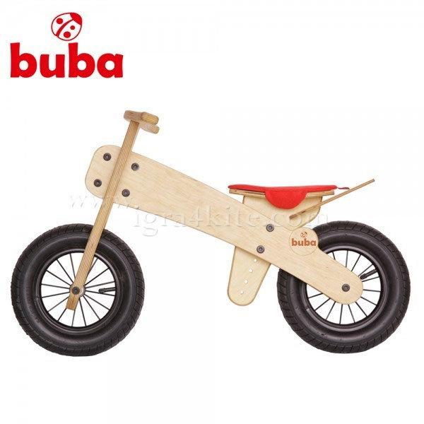 Buba - Детско дървено балансиращо колело Explorer mini червена седалка