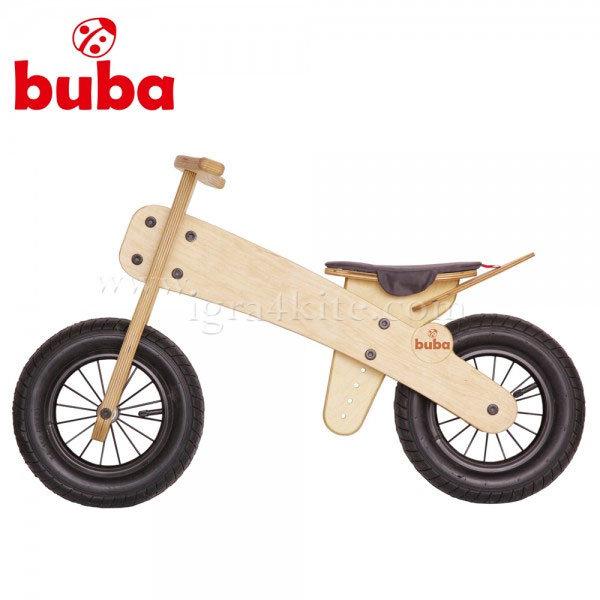 Buba - Детско дървено балансиращо колело Explorer mini черна седалка