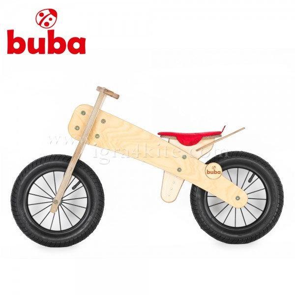"""Buba - Детско дървено балансиращо колело Explorer 12"""" червена седалка"""