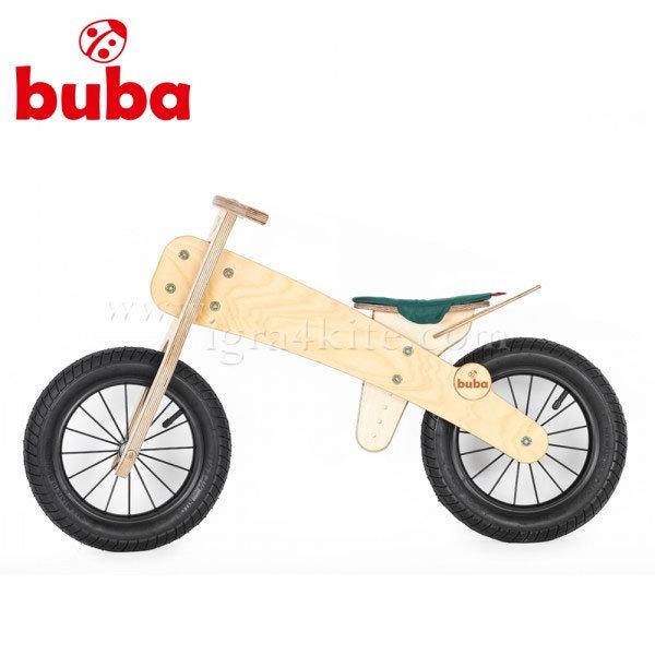 """Buba - Детско дървено балансиращо колело Explorer 12"""" зелена седалка"""
