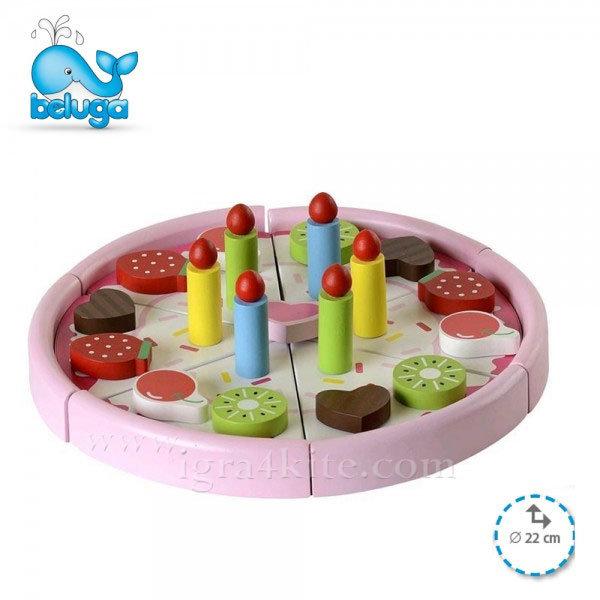 Beluga - Дървена играчка Торта 77023