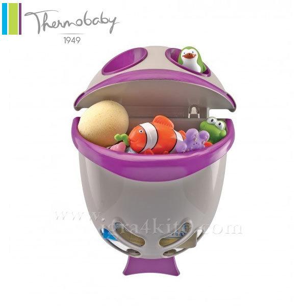 Thermobaby - Кош за играчки за баня Bubble Fish лилав
