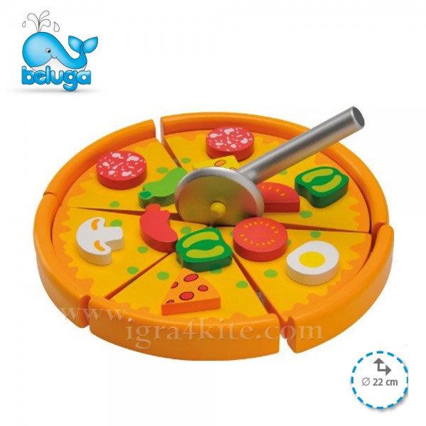 Beluga - Дървена играчка Пица 77022