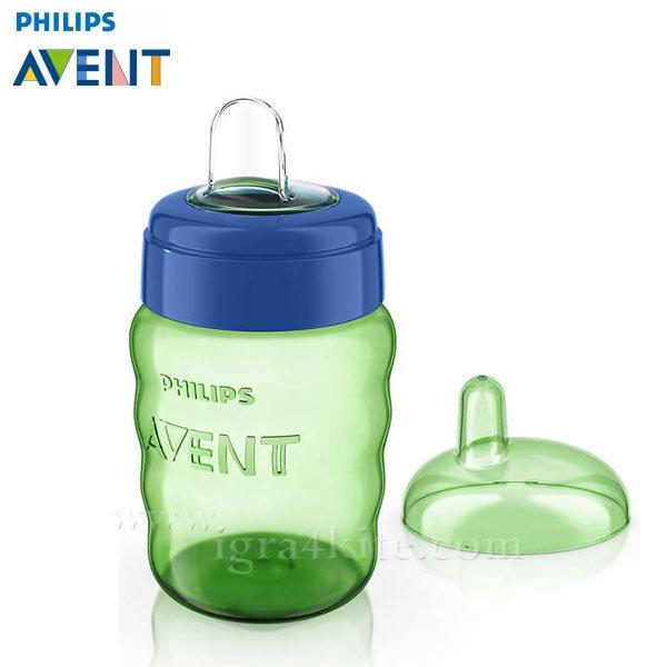 Philips AVENT - Чаша за лесен преход без дръжки, 260мл 12+m 0489 зелена