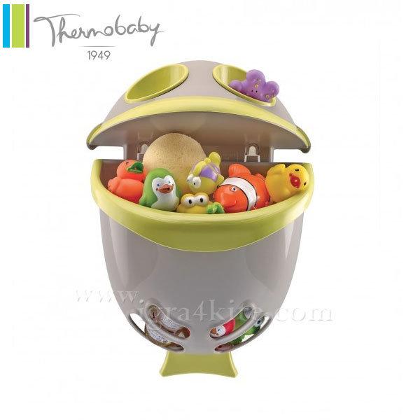 Thermobaby - Кош за играчки за баня Bubble Fish зелен