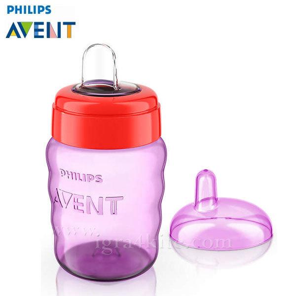 Philips AVENT - Чаша за лесен преход без дръжки, 260мл 12+m 0489 розова