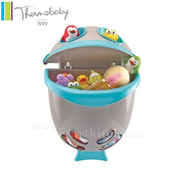 Thermobaby - Кош за играчки за баня Bubble Fish тюркоаз