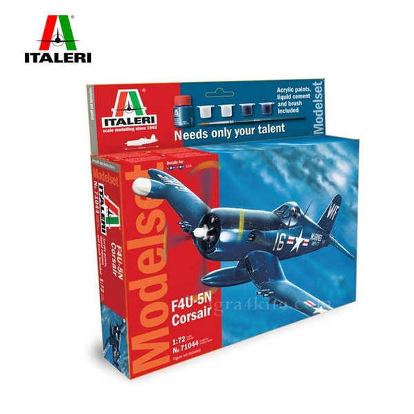 Italeri - Модел за сглобяване самолет F4U-5N Corsair 71044