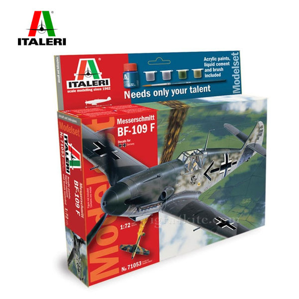 Italeri - Модел за сглобяване самолет BF-109F Messerschmitt 71053