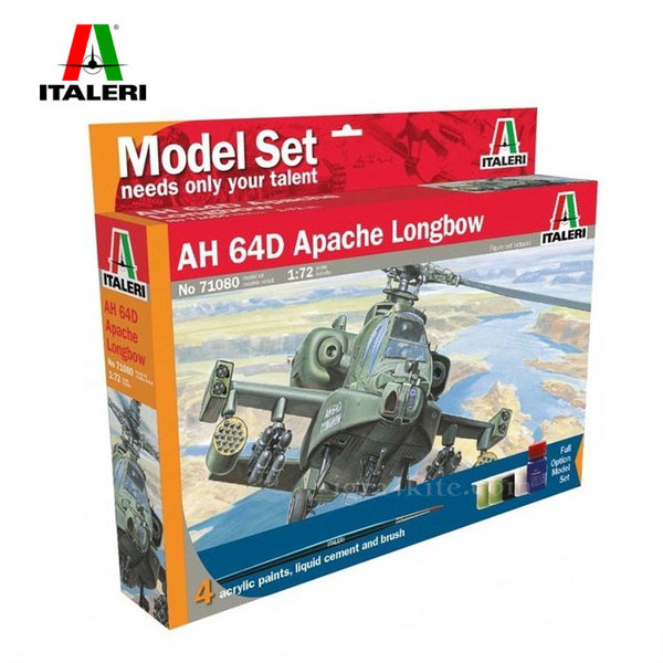 Italeri - Модел за сглобяване самолет AH-64D Apache Longbow 71080