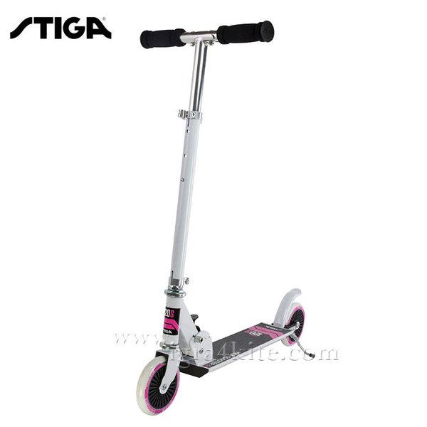 Stiga - Детски скутер Charger 120 S White/Pink 7424-20