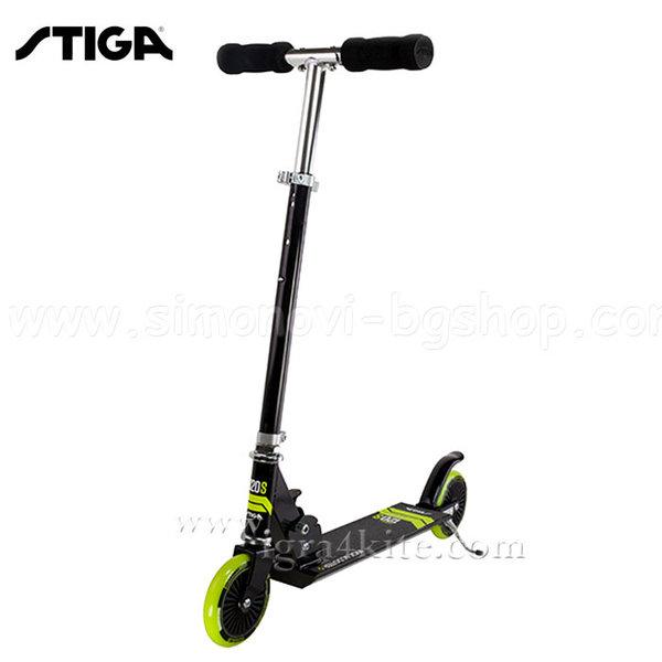 Stiga - Детски скутер Charger 120 S Black/Lime green 7424-21