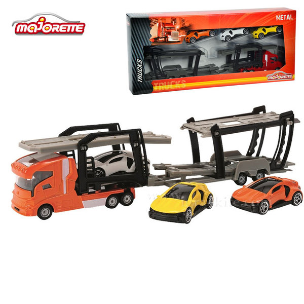 Majorette - Автовоз с 3 колички 58611