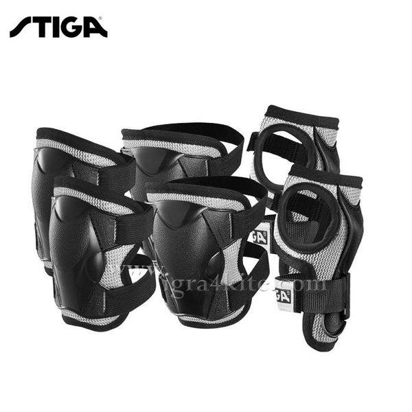 Stiga - Детски протектори Comfort Junior Black 2741