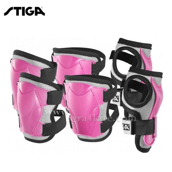 Stiga - Детски протектори Comfort Junior Pink 2747