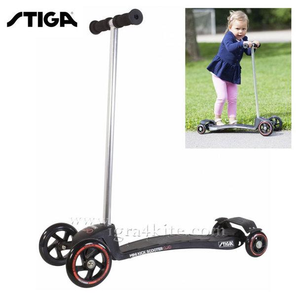 Stiga - Детски скутер Mini Kick Quad Black 7393-01