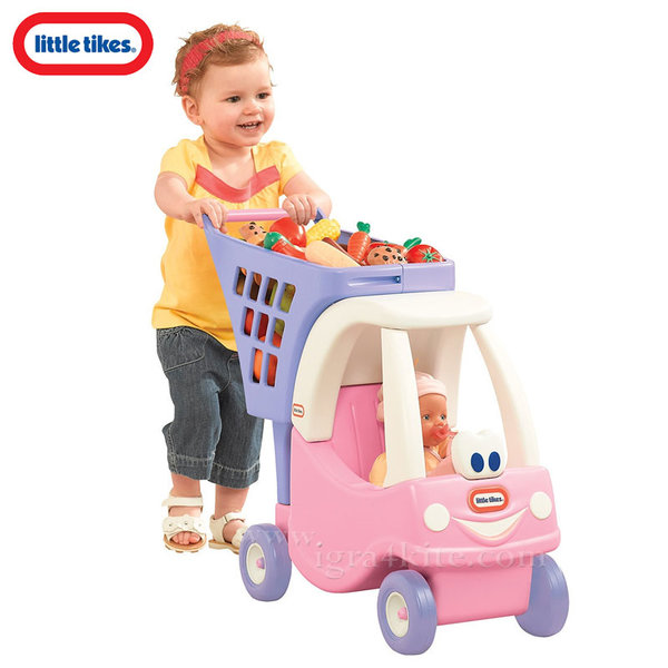 Little Tikes - Количка за пазаруване Cozy Coupe розова 620195