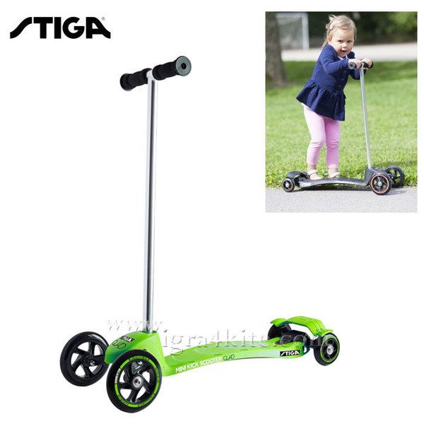 Stiga - Детски скутер Mini Kick Quad Green 7393-09