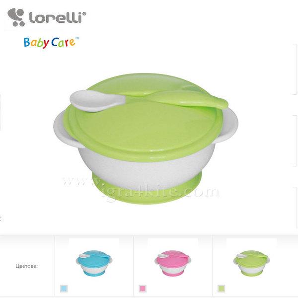 Lorelli - Комплект купа + лъжичка с вакуумно дъно