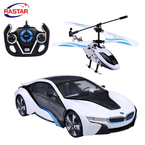 Rastar - Кола и хеликоптер BMW Speed Twins с дистанционно управление 1:14 49600-14