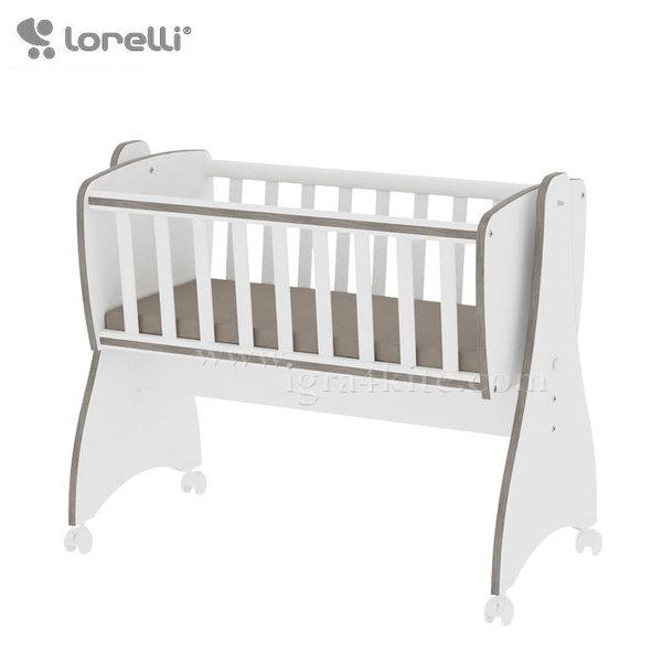 Lorelli - Бебешко легло-люлка FIRST DREAMS Бяло/Кафе