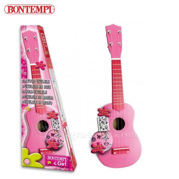 Bontempi - Дървено укулеле с 4 струни 191266