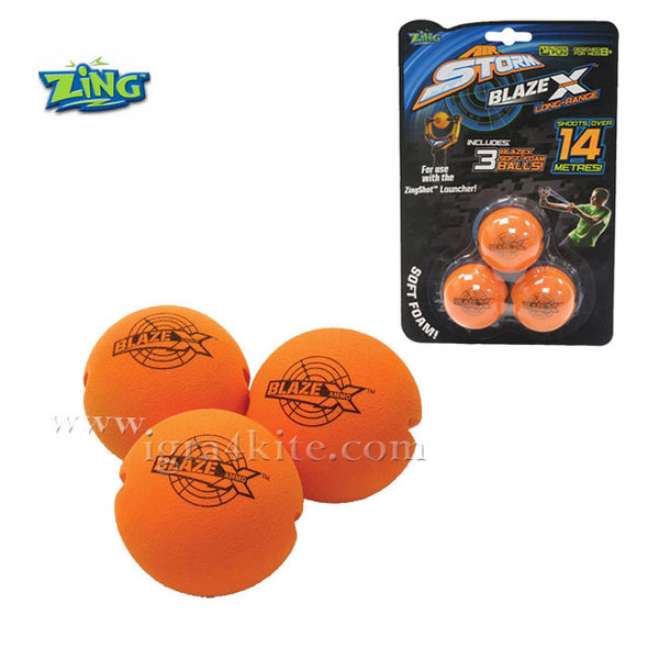 Zing - Допълнителни топчета Zingshot 3бр AS973