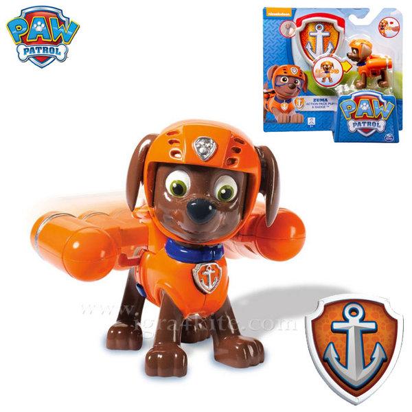 Paw Patrol - Кученцето Зума със значка за детето 22626