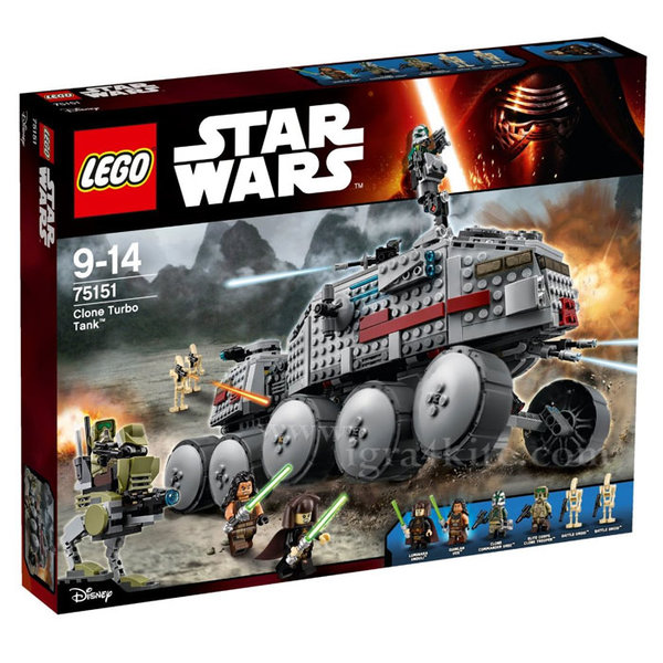 Lego 75151 Star Wars - Турбо танк на клонингите