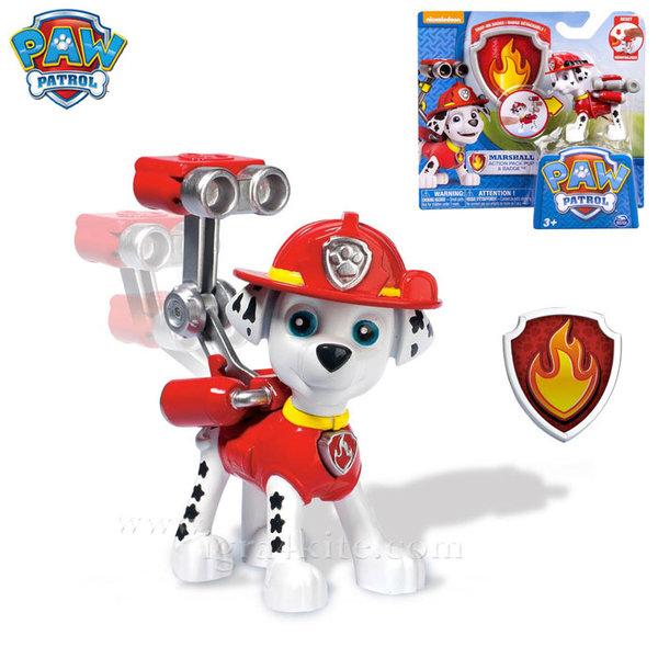 Paw Patrol - Кученцето Маршал със значка за детето 22626