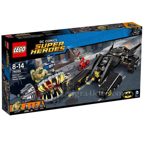 Lego 76055 Super Heroes - Батман Убиецът Croc в удар с канализацията
