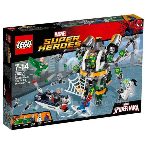 Lego 76059 Super Heroes - Спайдърмен Капанът от пипала на Док Ок