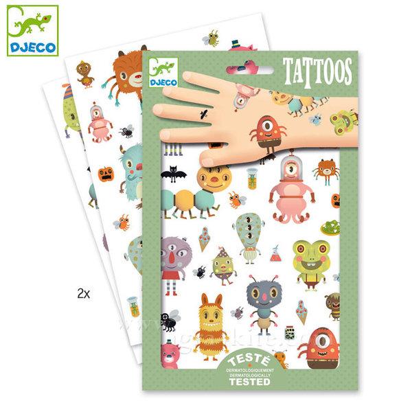 Djeco - Детски татуировки Чудовища dj09581