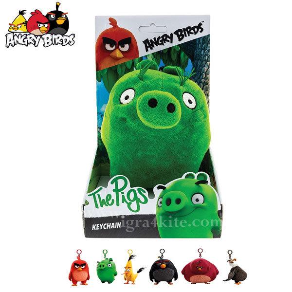 Angry Birds - Плюшен ключодържател Пигс 61700