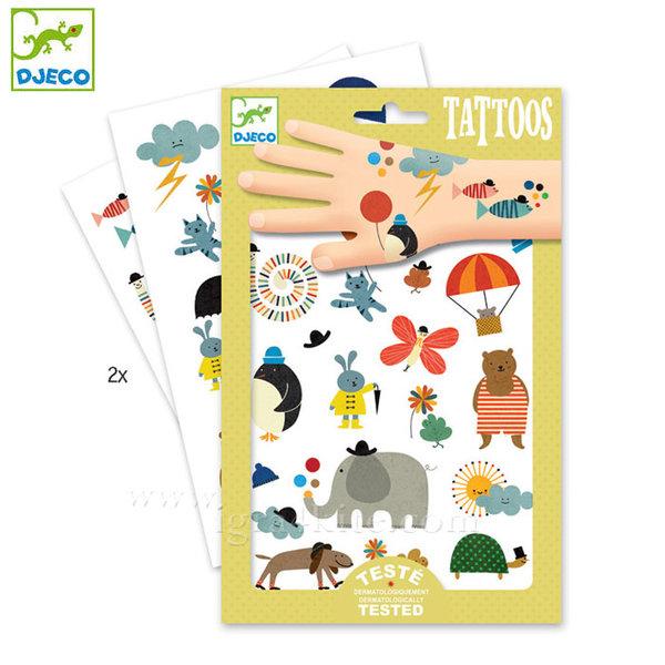 Djeco - Детски татуировки Сладки животинки dj09579