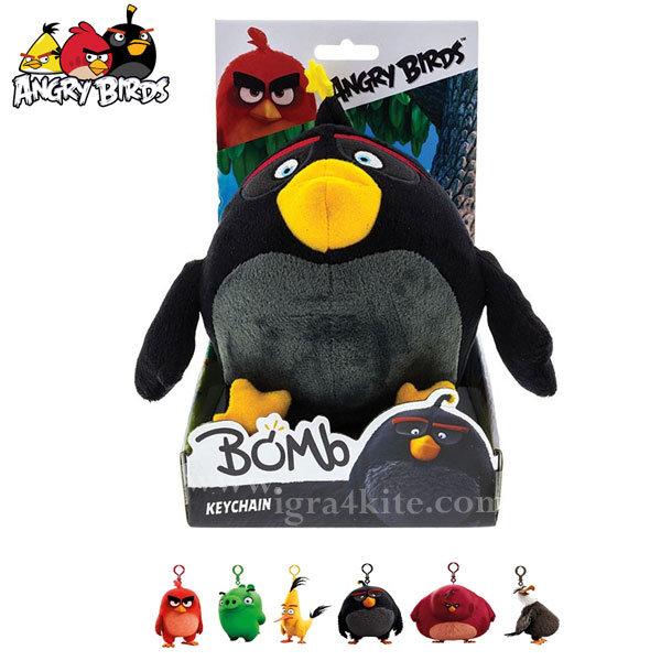 Angry Birds - Плюшен ключодържател Бомб 61700