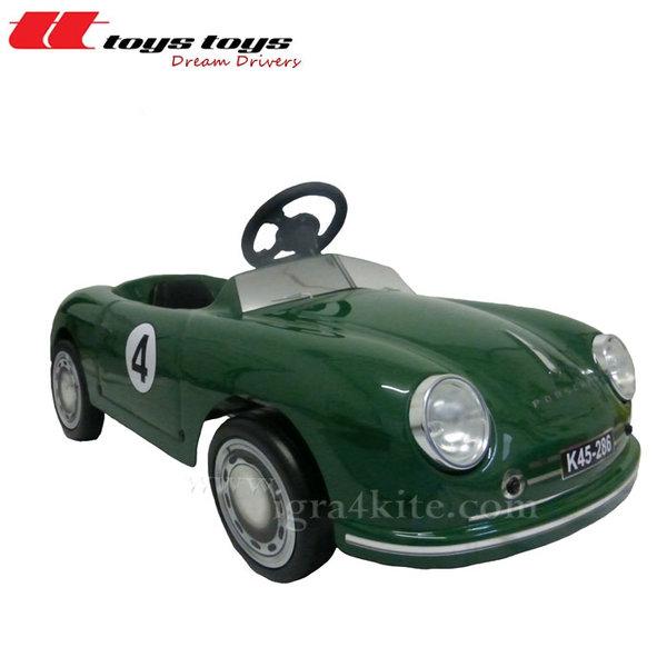 Toys Toys - Кола с педали PORSCHE 356 GT тъмно зелен 622631G