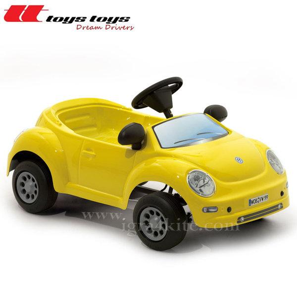 Toys Toys - Кола с педали VW NEW BEETLE BABY жълт 622243