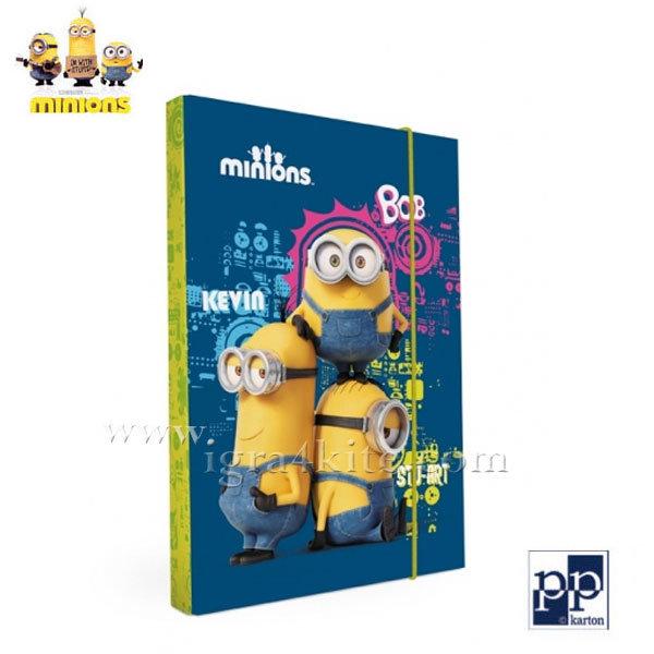 Karton P+P Minions - Папка кутия с ластик Миньоните 1-443