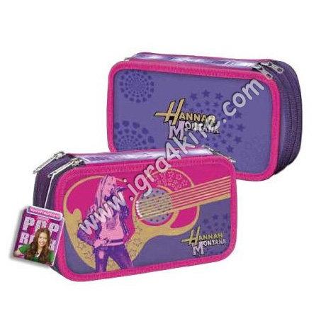 Hannah Montana - Несесер с три ципа - пълен