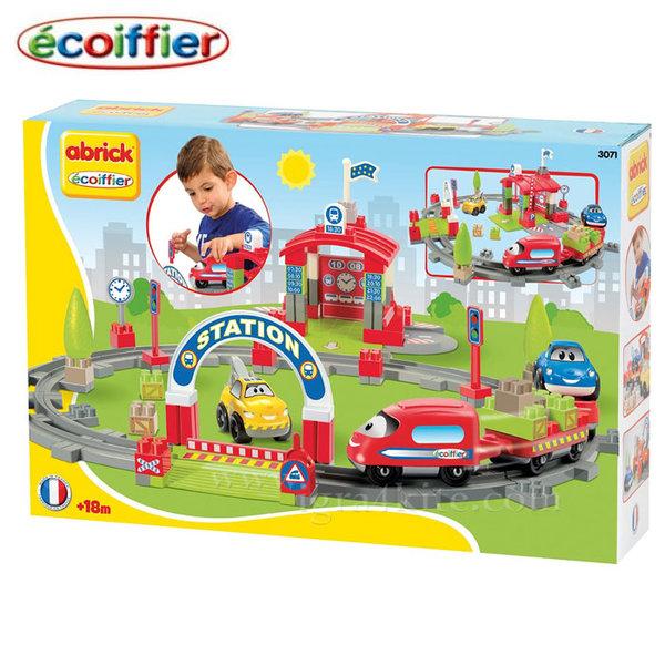 Ecoiffier - Влакче с релси и автогара 3071