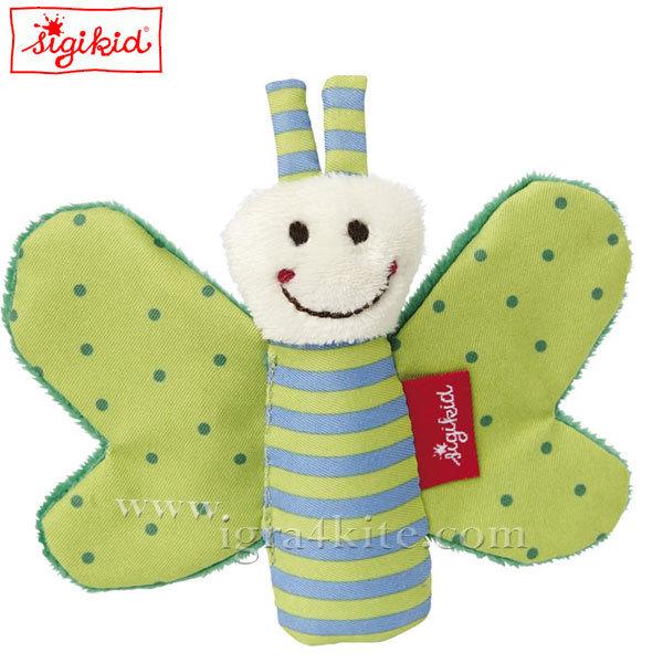Sigikid - Мека играчка Пеперуда зелена 9см 41179