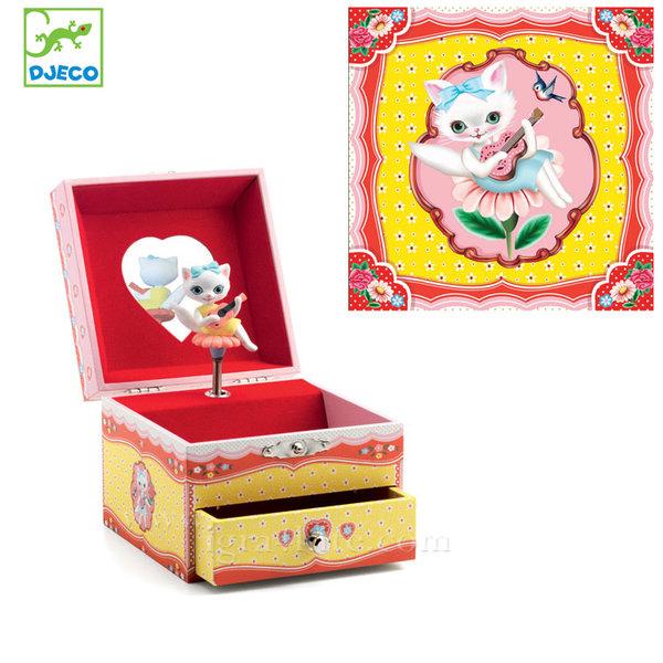 Djeco - Музикална кутия за бижута Песента на котката 06600