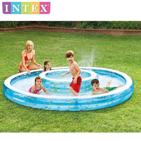 Intex - Надуваем басейн с мини басейнче 279х36см 57143