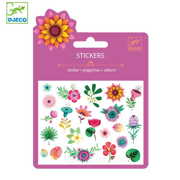 Djeco - Мини стикери Тропически цветя 09780