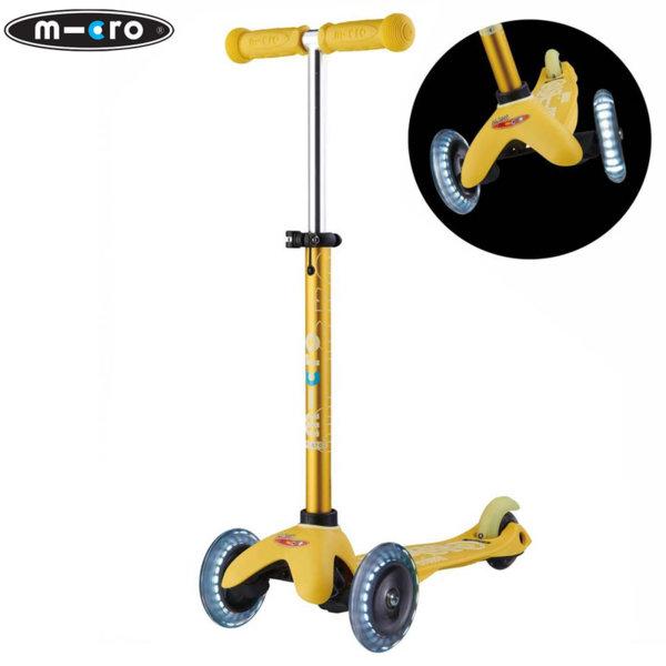 Micro - Детска тротинетка с три колела MINI MICRO DELUXE LED Yellow MMD053