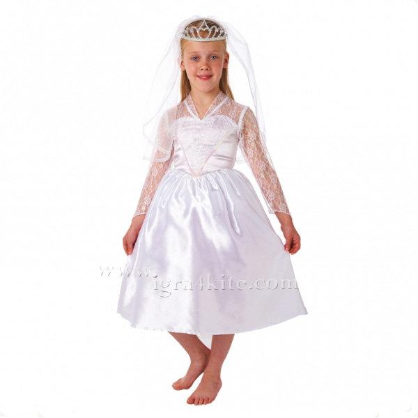 Детски карнавален костюм Булка 995021