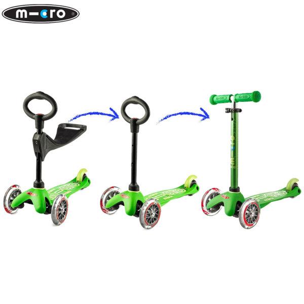 Micro - Детска тротинетка с три колела MINI MICRO 3в1 Deluxe Green MMD010